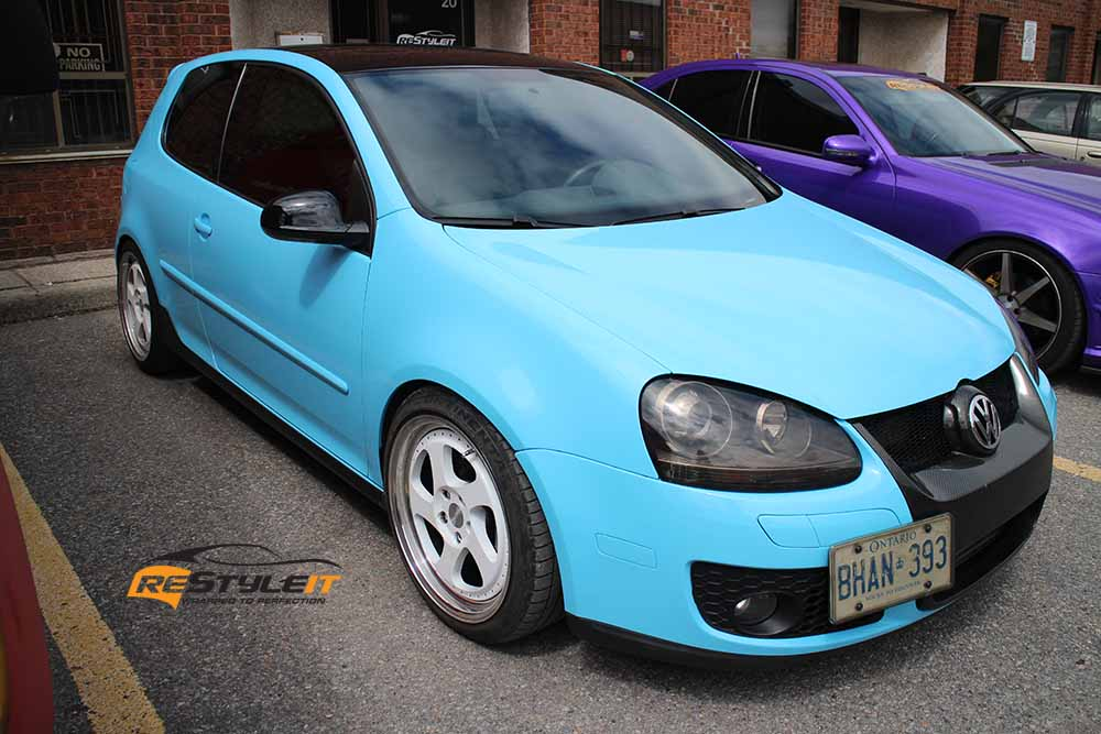 VW Golf Sky Blue