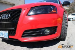 Gloss Red Audi A3 wrap 3 year later