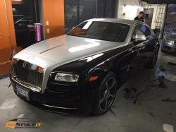Rolls Royce partial wrap and clear protection install