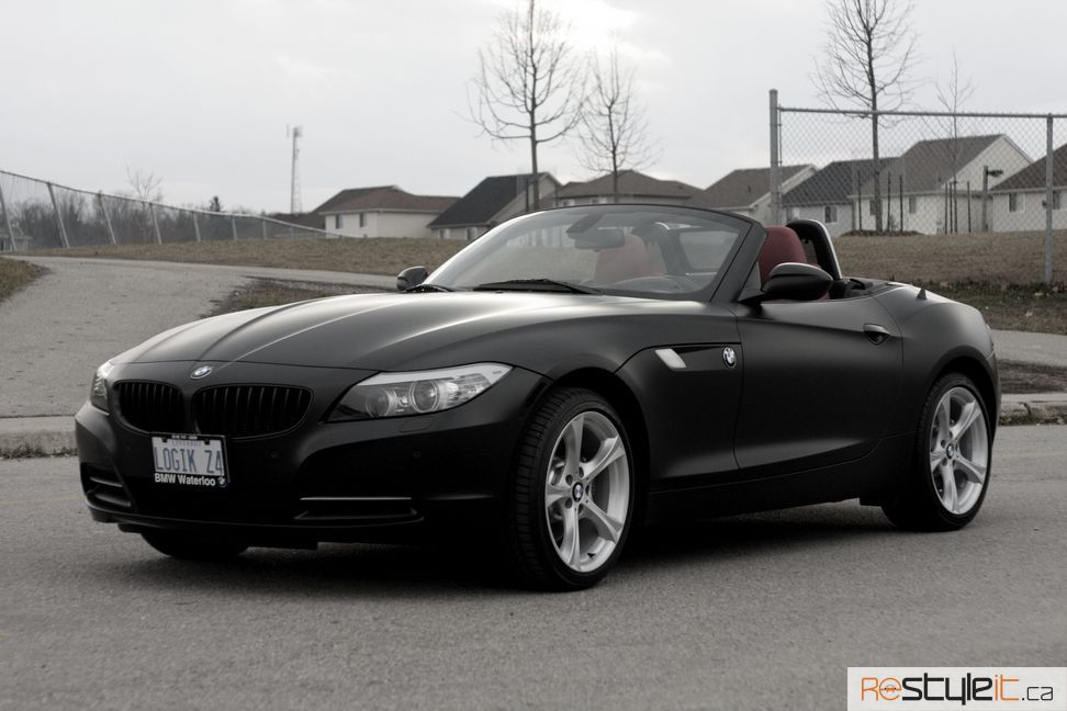 Bmw Z4 Satin Black Wrap Vehicle Customization Shop