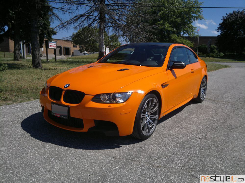 bmw e92 3 series m3 orange wrap vehicle customization shop vinyl car wrap car wrap in. Black Bedroom Furniture Sets. Home Design Ideas