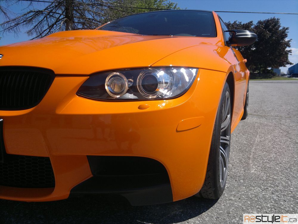 BMW E92 3-Series M3 Orange Wrap
