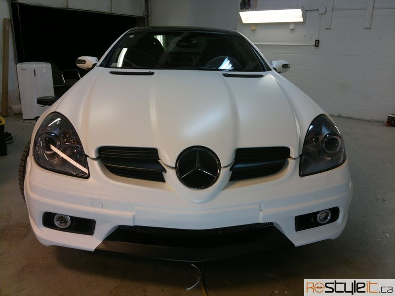 Matte White Mercedes SLK - Vehicle Customization Shop ...
