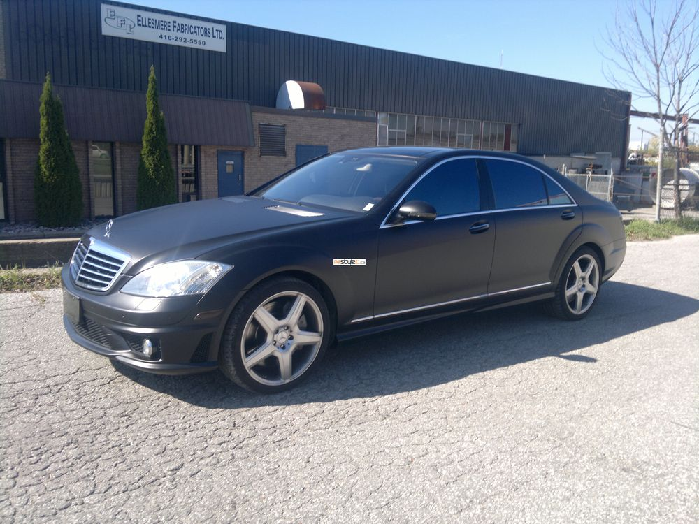 Matte black mercedes benz s65 amg vehicle customization for Matte black mercedes benz