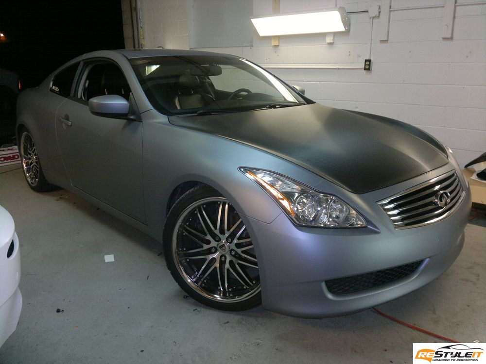 Infiniti Fort Lauderdale >> Matte Grey Metallic with Carbon Fiber Hood, Mirrors and Roof
