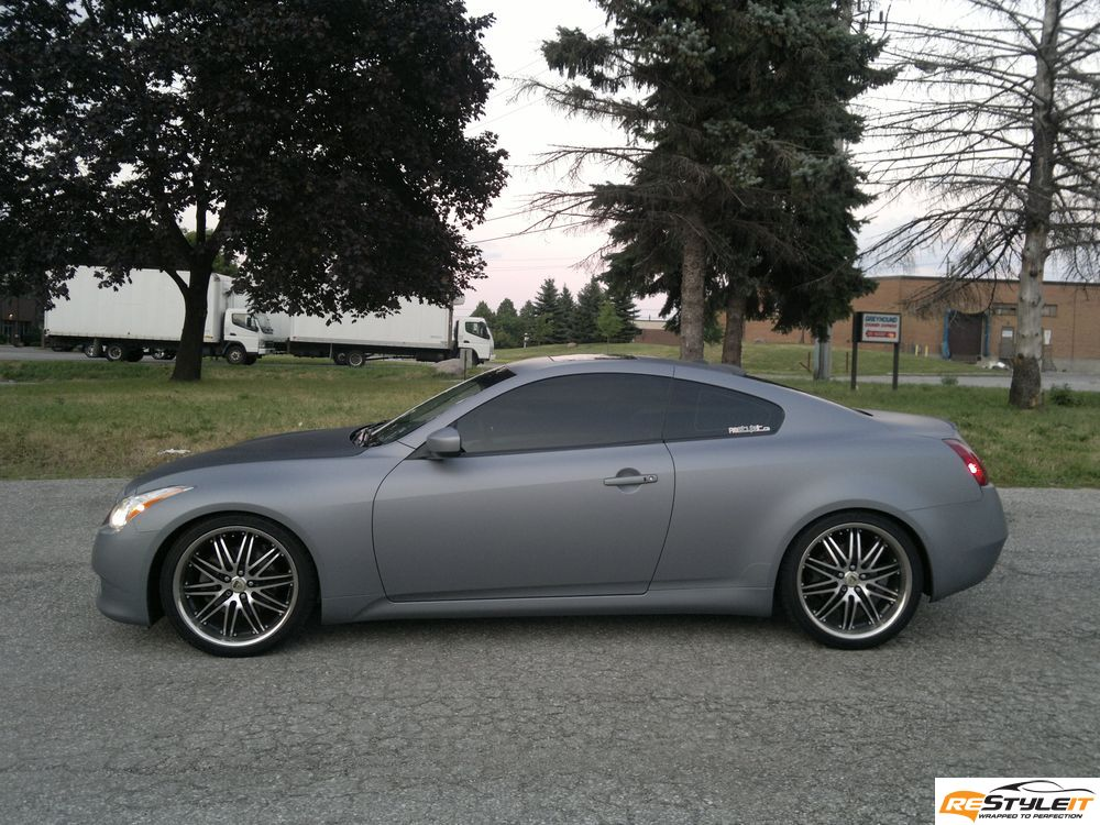 Matte Grey Metallic Infiniti G37 Vehicle Customization