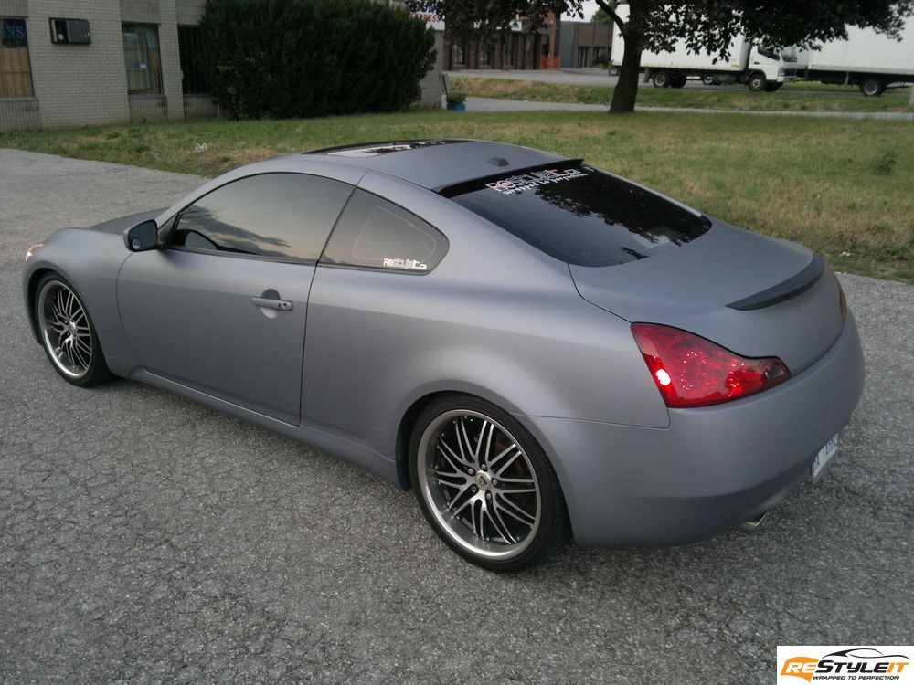 Matte Grey Car >> Matte Grey Metallic Infiniti G37 Vehicle Customization