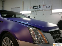 Matte Purple hood wrap