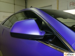 Matte Purple wrap in progress