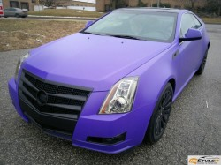 Matte Black grill on Matte Purple hood wrap
