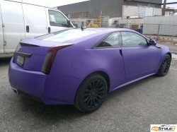 Cadillac CTS Matte Purple wrap