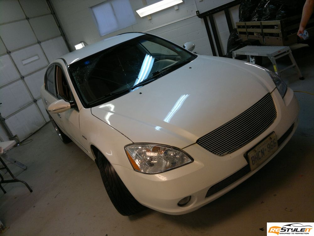 NISSAN ALTIMA Gloss Black Roof Wrap | Vehicle ...