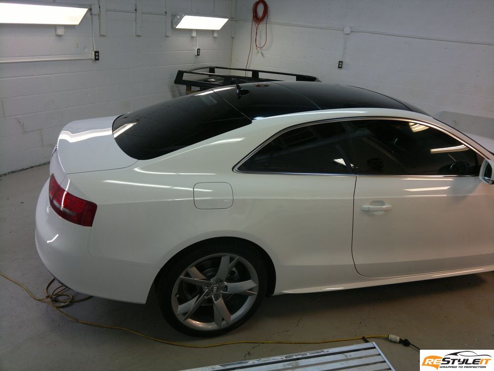 Audi A5 Gloss Black Roof Wrap Vehicle Customization Shop