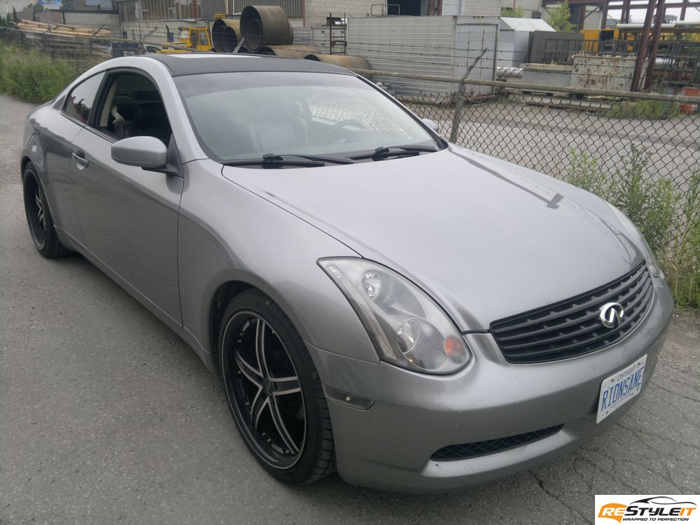 Infiniti G35 Carbon Fiber Roof Hood Diffuser And Mirrors