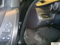 Carbon fiber interior finish