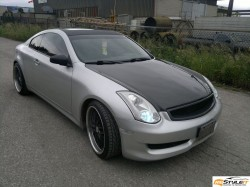 Infiniti G35 Carbon Fiber Roof and Mirrors Wrap