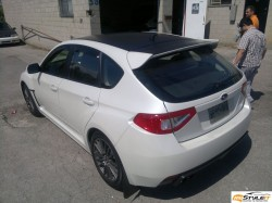 Subaru Impreza Hatchback Matte Black Roof Wrap