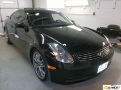 Black Infiniti G35. Before