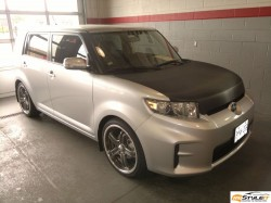 Scion XB. Carbon Fiber Hood and Spoiler Wrap