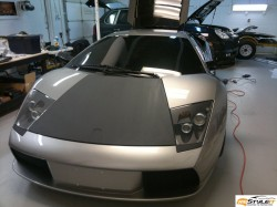 Reventon Matte Grey wrap. Lamborghini Murcielago project in progress