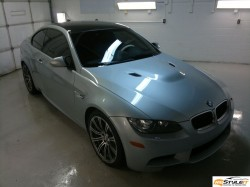 BMW M3 Matte White project. Before