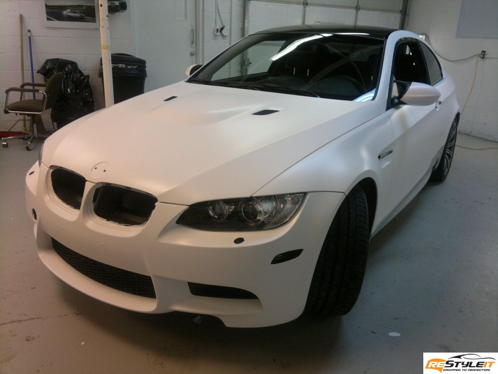 Matte White Bmw M3 Vehicle Customization Shop Vinyl Car Wrap Car Wrap In Toronto Miami