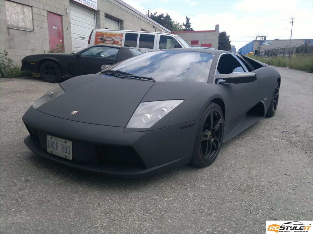 reventon matte grey wrap lamborghini murcielago project vehicle customization shop vinyl. Black Bedroom Furniture Sets. Home Design Ideas