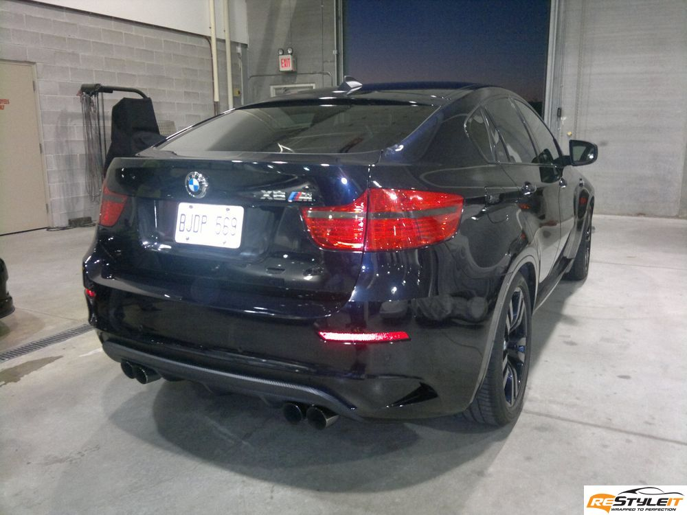 X6 Matte Carbon Fiber Makeover Vehicle Customization