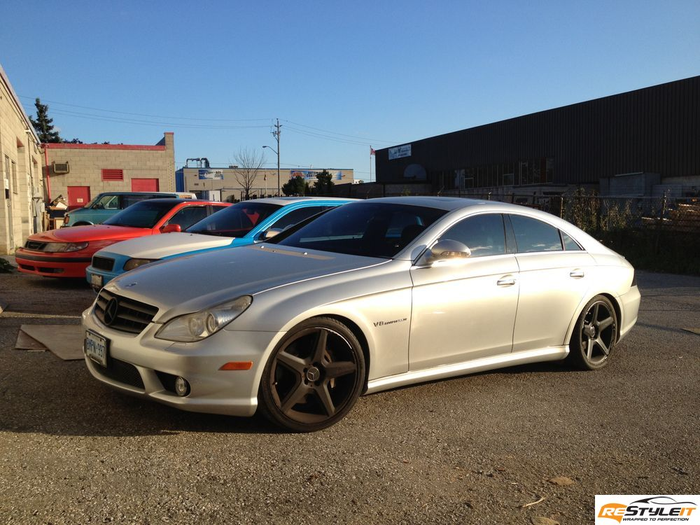 Matte red mercedes cls 55 wrap vehicle customization for Mercedes benz service miami