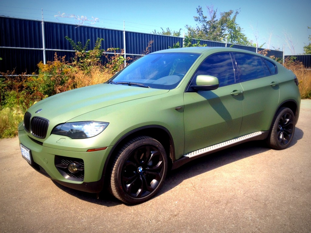 Matte Military Green Bmw X6 Wrap Vehicle Customization