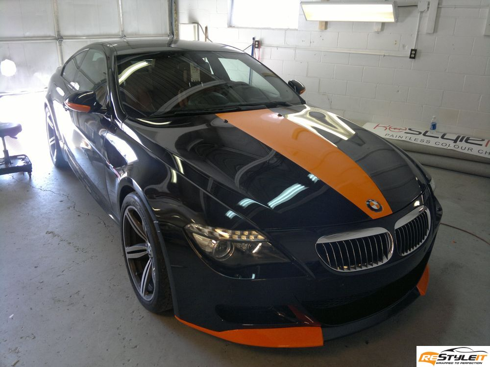 BMW M6 FIRE ORANGE VINYL TRIM - Vehicle Customization Shop | Vinyl