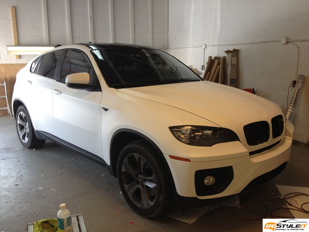 Matte White Bmw X6 Vehicle Customization Shop Vinyl Car Wrap Car Wrap In Toronto Miami