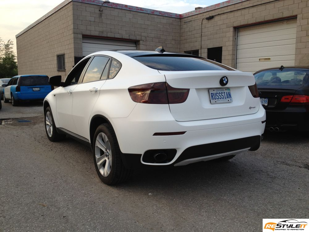 Matte White Bmw X6 Vehicle Customization Shop Vinyl