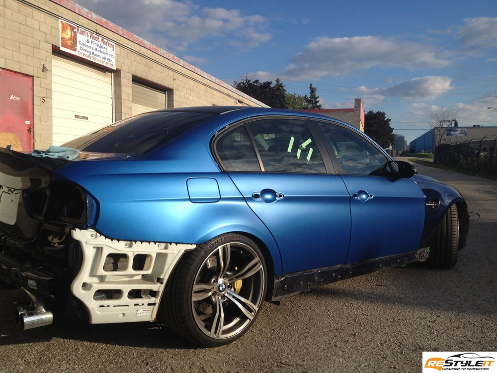 Matte metallic blue BMW 3 series - Vehicle Customization ...