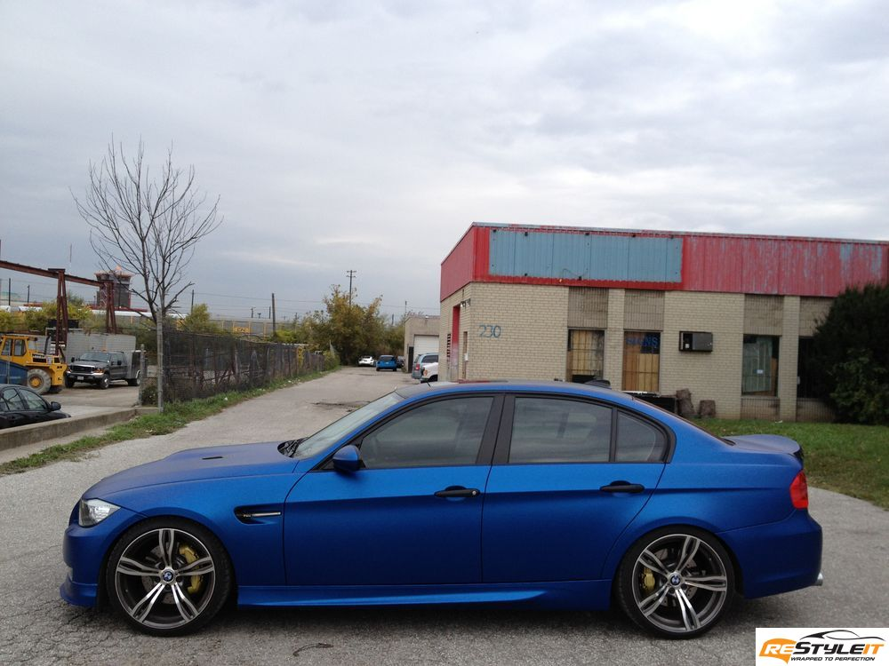 Matte metallic blue BMW 3 series | Vehicle Customization ...