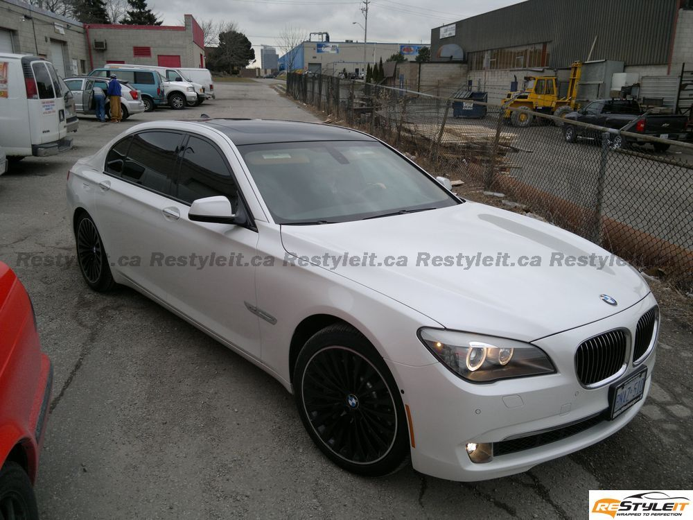 Bmw 7 Series Gloss Black Roof Vehicle Customization Shop