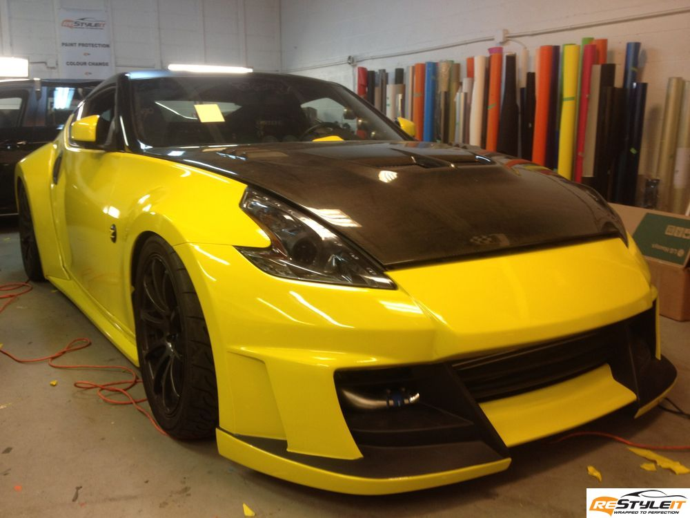 Plastic Wrap Car >> Gloss Yellow Nissan 370Z | Vehicle Customization Shop | Vinyl Car Wrap | Car Wrap in Toronto, Miami