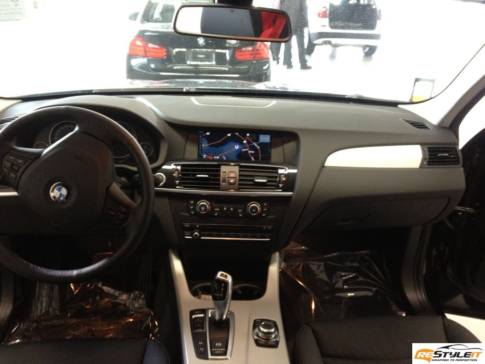 bmw x3 interior wrap vehicle customization shop vinyl car wrap car wrap in toronto miami. Black Bedroom Furniture Sets. Home Design Ideas