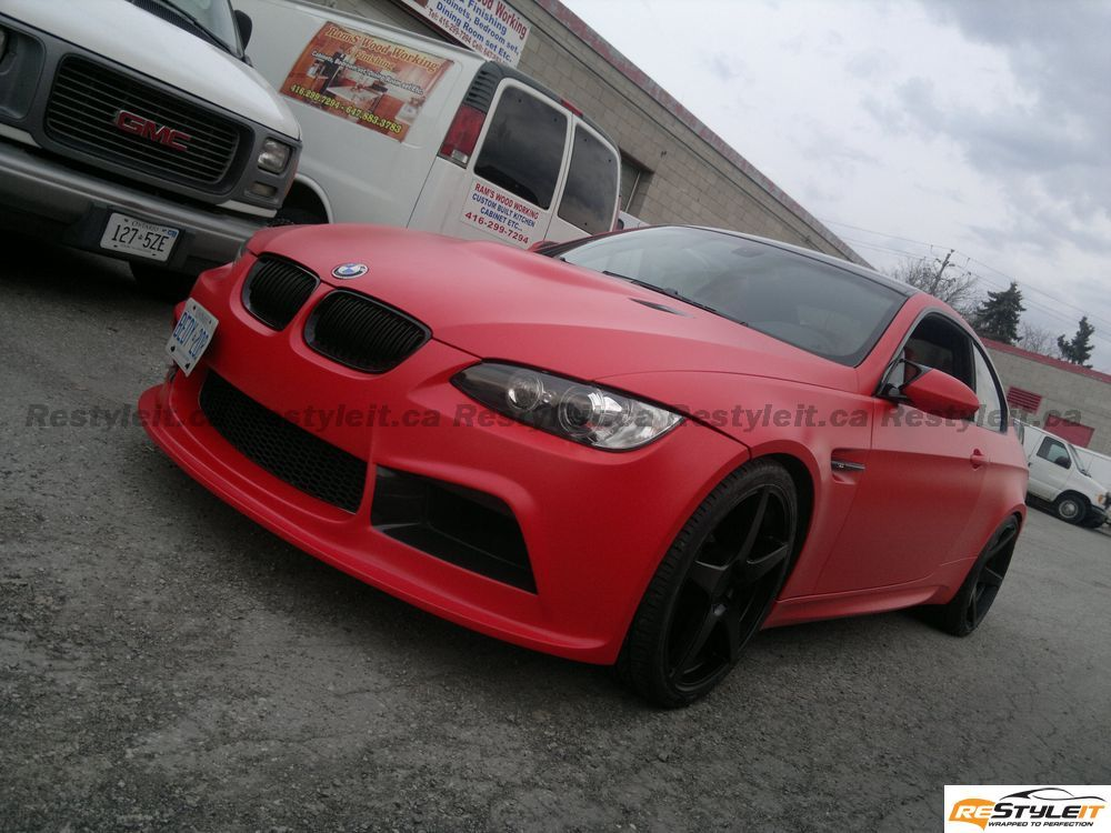 Red Devil Matte Red M3 Vehicle Customization Shop