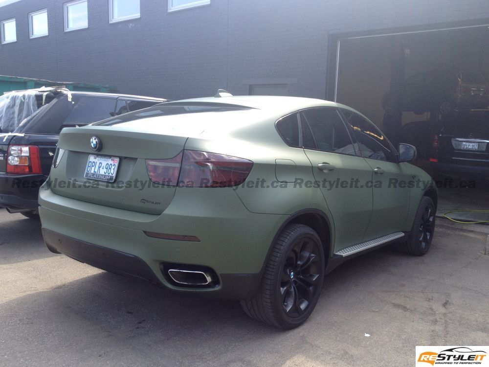3M Paint Protection Film >> Matte Military Green BMW X6 | Vehicle Customization Shop | Vinyl Car Wrap | Car Wrap in Toronto ...