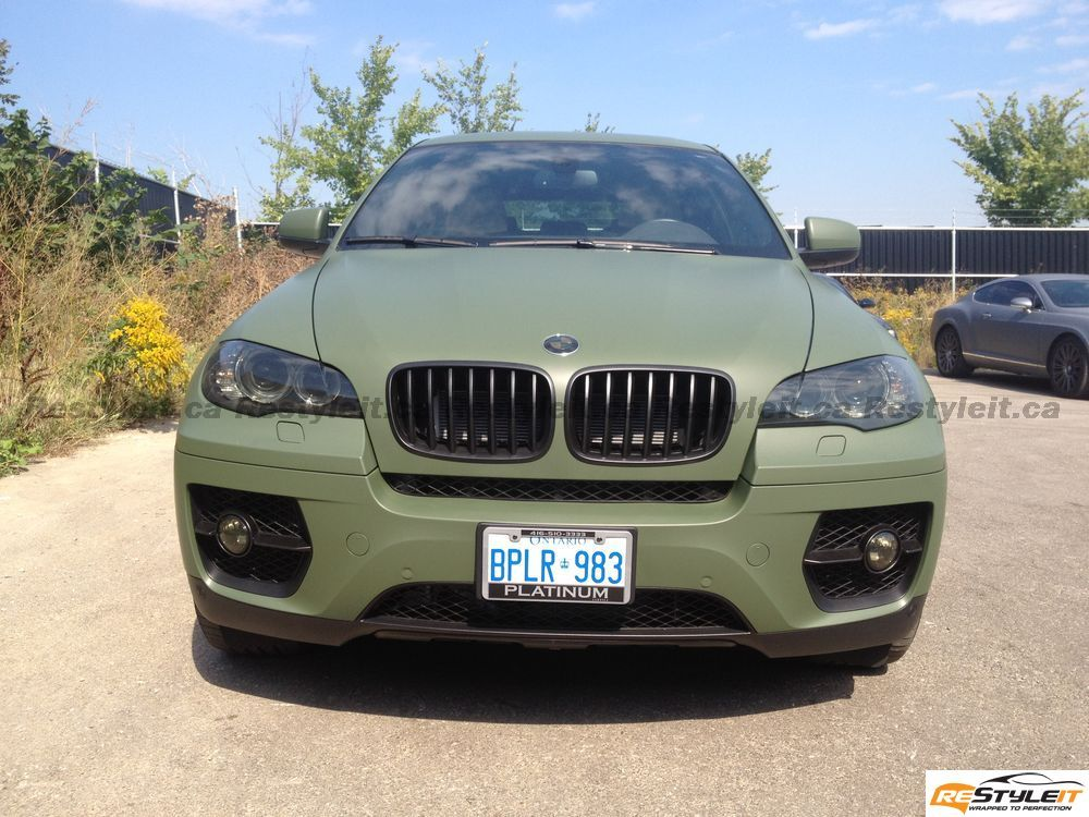 Matte Military Green Bmw X6 Vehicle Customization Shop