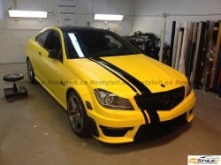 Matte Yellow Mercedes C63