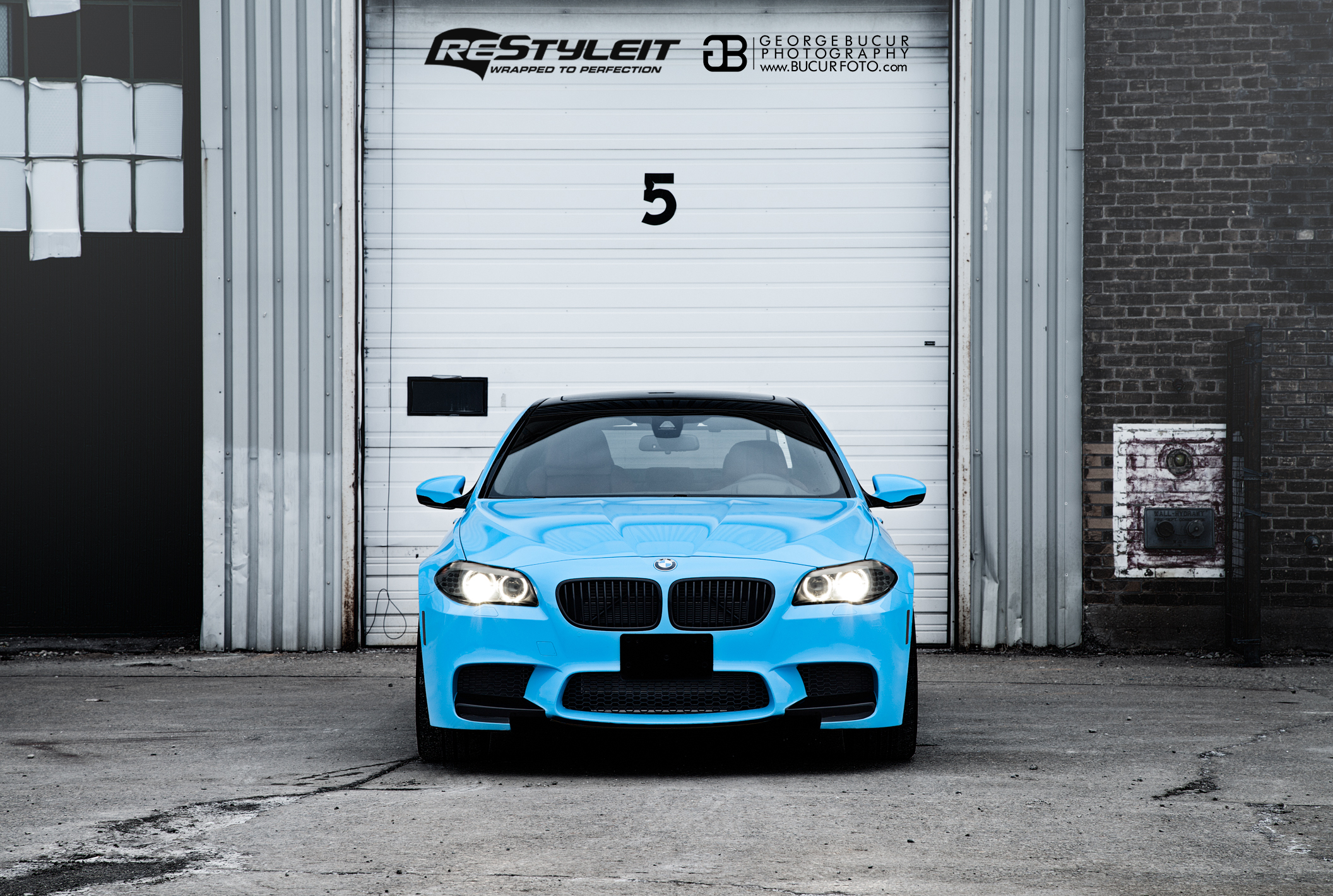 Olympic Blue Bmw M5 Vehicle Customization Shop Vinyl