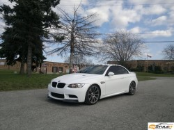 Matte White BMW M3 Convertible