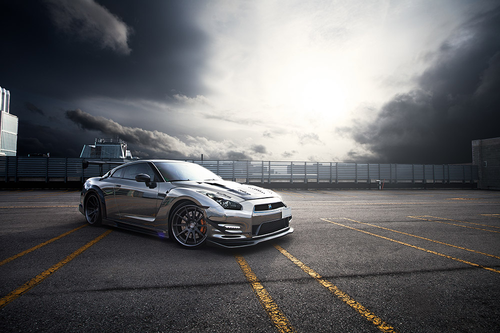 Black Chrome Nissan GTR
