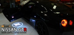Limited Edition Nissan GTR door lights by Restyle It