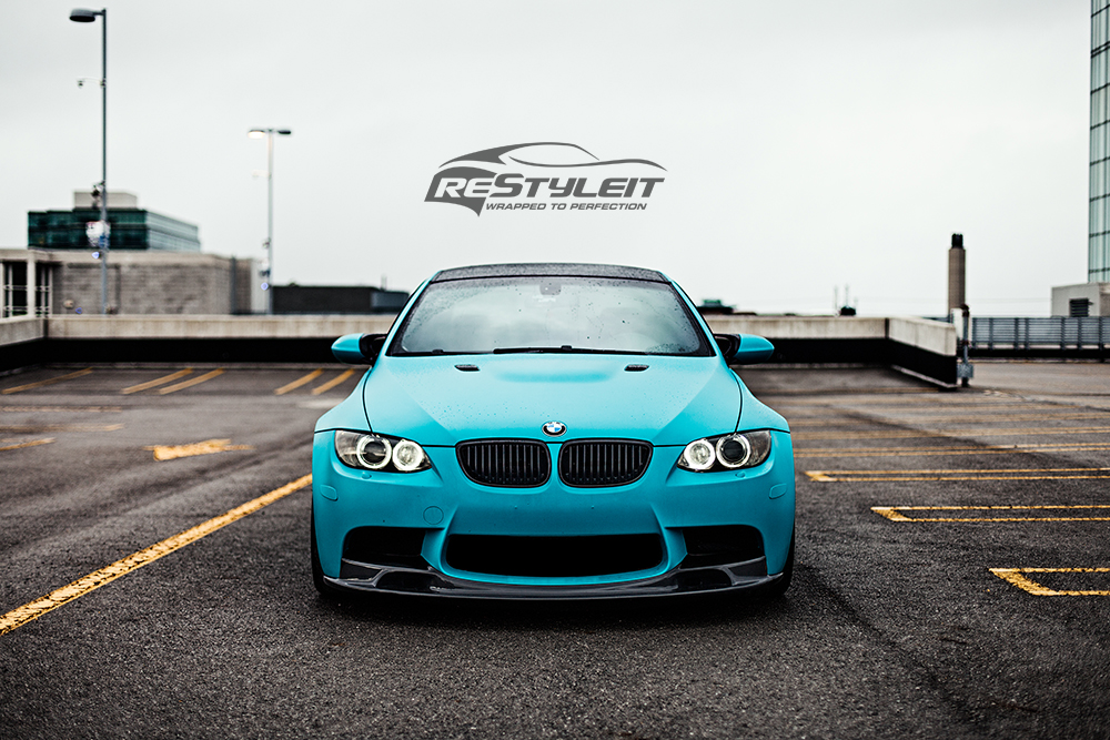 Matte Teal Bmw M3 Vehicle Customization Shop Vinyl Car