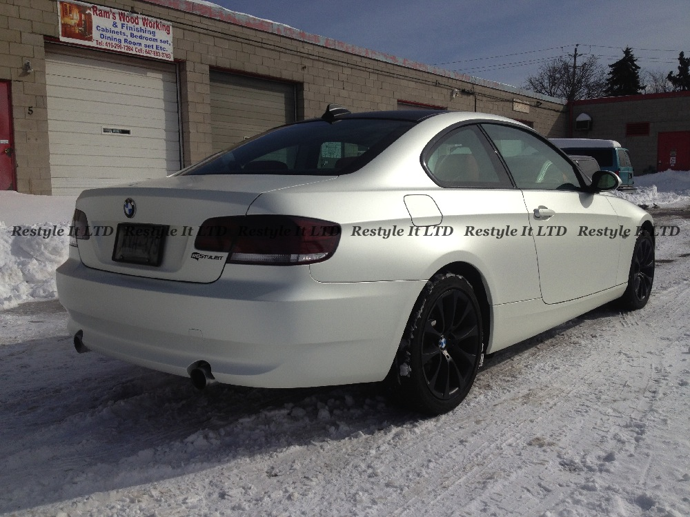 Satin Pearl White Bmw 335i Vehicle Customization Shop Vinyl