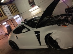 Satin White Nissan 370Z