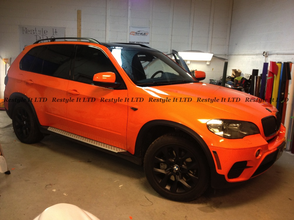 2013 Bmw X5 Fire Orange Wrap Vehicle Customization Shop